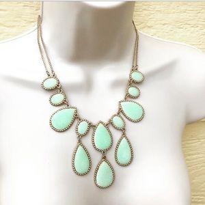ALDO Mint Green Druzy Statement Necklace